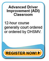 BDI Classoom - Traffic classes offered in Clearwater, St. Petersburg or Palm Harbor.