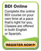 BDI Online Traffic course offered in English or Spanish